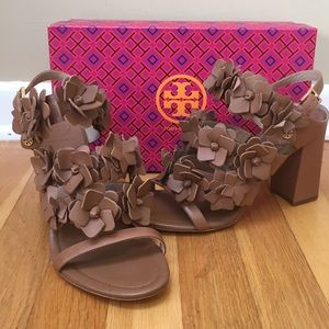 Tory Burch 'Blossom' Leather 65mm Strappy Sandals